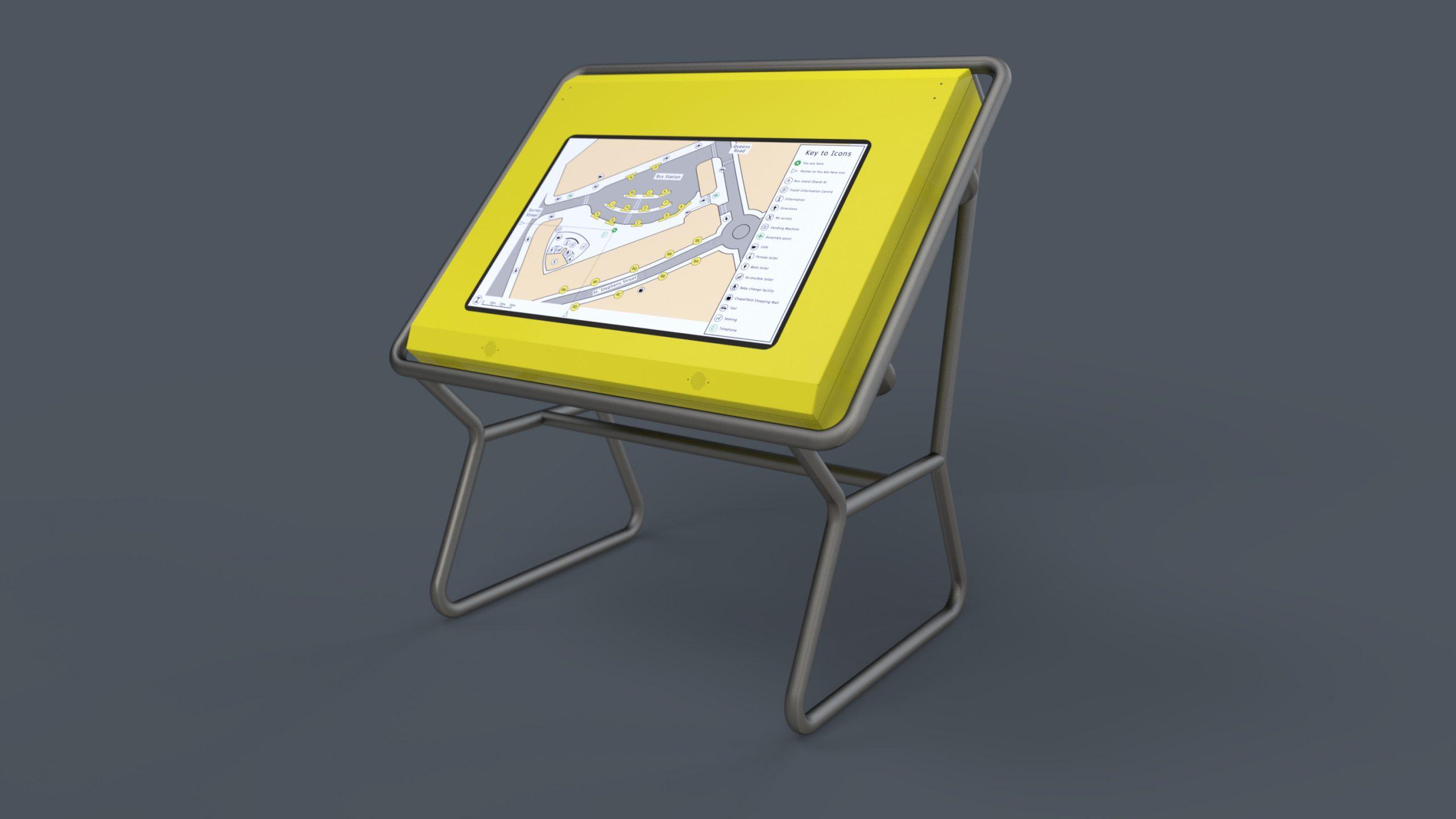 Ariadne Tactile Map placed behind Nexus Alpha bespoke wording. Concept by Nexus Alpha LPS.